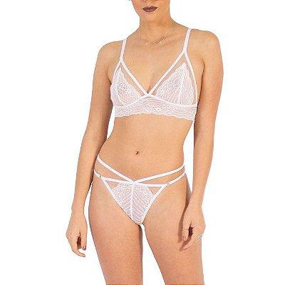 Calcinha Strappy Sexy Branca
