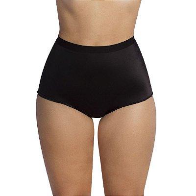 Calcinha Selina Hot Pant em microfibra Preta