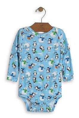 daa27f9c4 Body Infantil Manga Longa Up Baby Pinguim