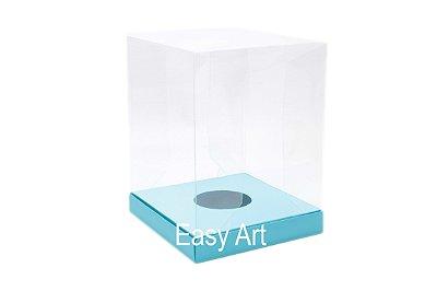 Caixa para Ovos de Páscoa de Pé - Azul Tiffany