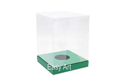 Caixa para Ovos de Páscoa de Pé - Verde Bandeira