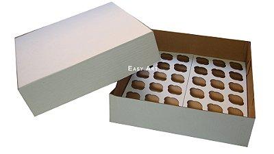 Caixas para Transporte de Mini Cupcakes - 35x35x10