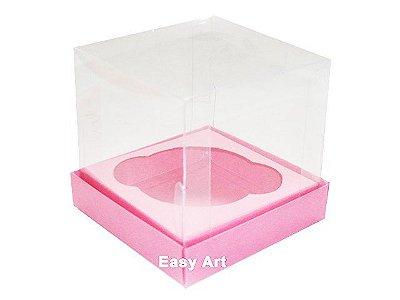 Caixas para Mini Cupcakes - Rosa Claro