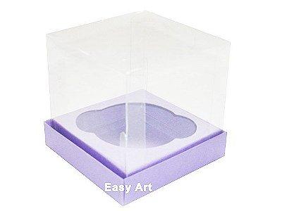 Caixas para Mini Cupcakes - Lilás