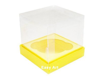 Caixas para Mini Cupcakes - Amarelo