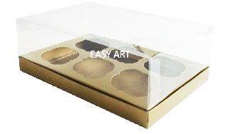Caixas para Cupcakes - Dourado
