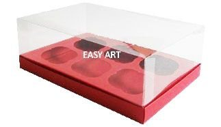 Caixas para Cupcakes - Vermelho