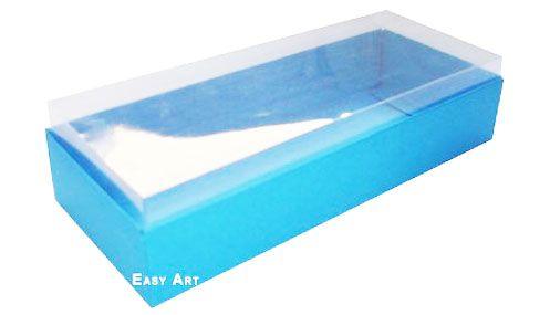 Caixa para 8 Brigadeiros - Azul Turquesa
