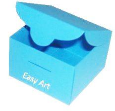 Caixinha para Bem casados  - Azul Turquesa