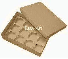 Caixas para Transporte de 12 Mini Cupcakes - Kraft