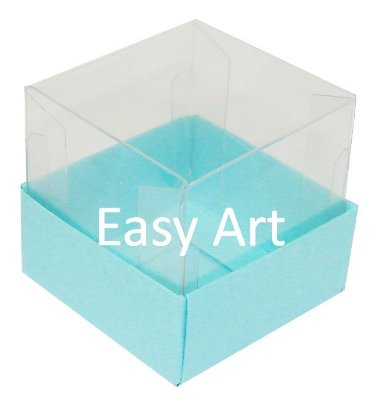 Caixinha para 1 Trufa / Brigadeiro - Azul Tiffany