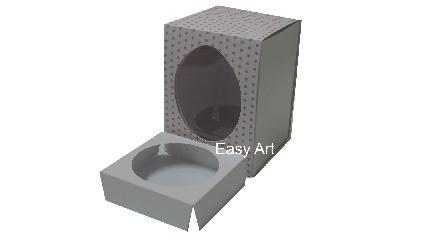Caixas para Ovos de Páscoa - Branco Poás Rosa