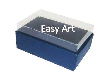Caixas para 06 Mini Doces / Azul Marinho