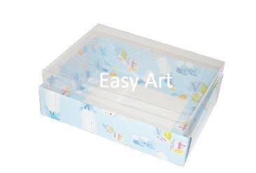 Caixas para 12 Mini Doces / Estampado Bebê Azul