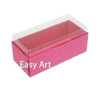 Caixas para 4 Macarons - Pink