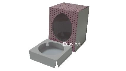 Caixas para Ovos de Páscoa - Rosa Poás Marrom
