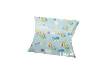 Caixa Almofada - Estampado Bebê Azul