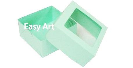 Caixa para 4 Brigadeiros - Verde Claro