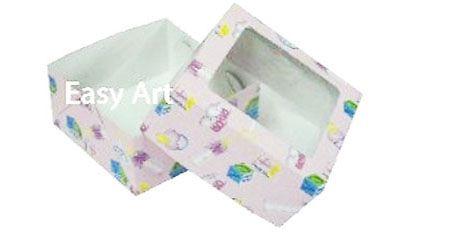Caixa para 4 Brigadeiros - Estampado Bebê Rosa