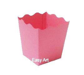 Cachepô / Caixa para Pipoca - Rosa Claro