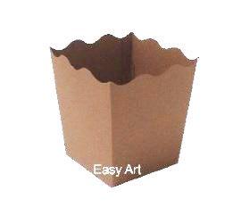 Cachepô / Caixa para Pipoca - Marrom Claro