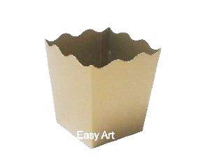 Cachepô / Caixa para Pipoca - Dourado