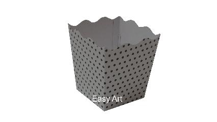 Cachepô / Caixa para Pipoca - 8x8x10