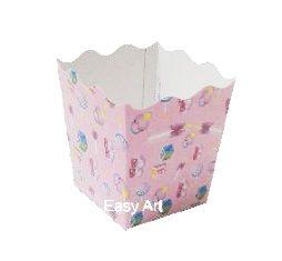 Cachepô / Caixa para Pipoca - Estampado Bebê Rosa
