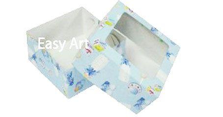 Caixa para 4 Brigadeiros - Estampado Bebê Azul