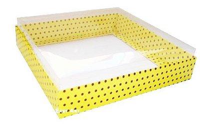 Caixa para 16 Brigadeiros - Amarelo Poás Marrom