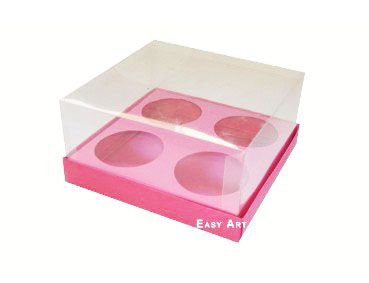 Caixas para Mini Cupcakes - Pink