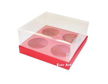 Caixas para Mini Cupcakes - Vermelho