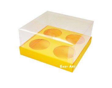 Caixa para Mini Cupcakes - Laranja Claro