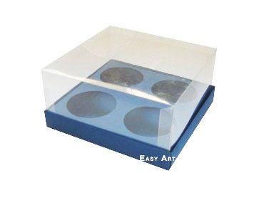 Caixas para Mini Cupcakes - Azul Marinho