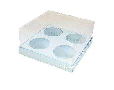 Caixas para Mini Cupcakes - Azul Claro