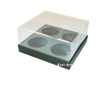 Caixas para Mini Cupcakes - Verde Musgo