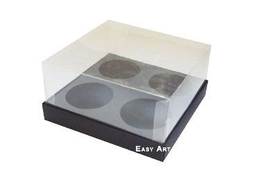 Caixas para Mini Cupcakes - Preto