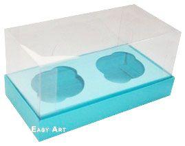Caixas para 2 Mini Cupcakes - Azul Tiffany