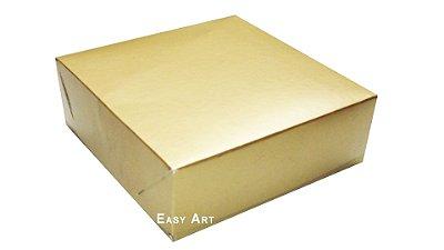 Caixas para 9 Brigadeiros - Dourado