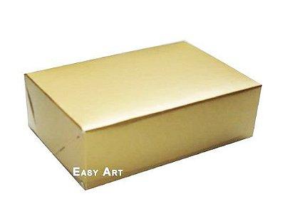 Caixas para 12 Brigadeiros - Dourado