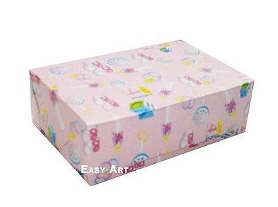 Caixas para 12 Brigadeiros - Estampado Bebê Rosa