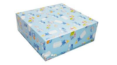 Caixas para 25 Brigadeiros - Estampado Bebê Azul