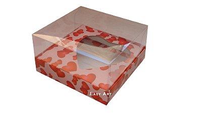 Caixa Coração de Colher - Rosa Coração Vermelho