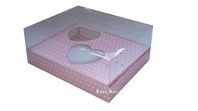 Caixa Coração de Colher - Rosa Poa Branca