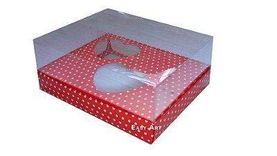 Caixa Coração de Colher - Vermelho Poa Branco