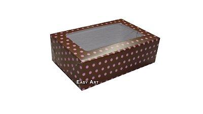 Caixas para Bombons Linha B - Com Visor - 16x12x3,7