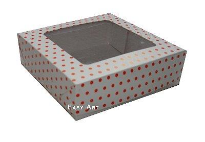 Caixas para Bombons Linha B - Com Visor - 16x16x3,7