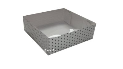 Caixas para Bombons Tampas Transparentes - 7x7x3