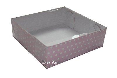 Caixas para Bombons Tampas transparentes - 16x16x3,7