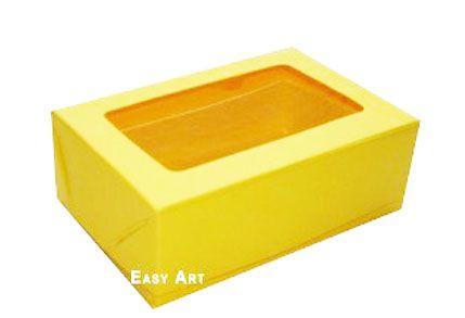 Caixas para 3 Brigadeiros - Amarelo